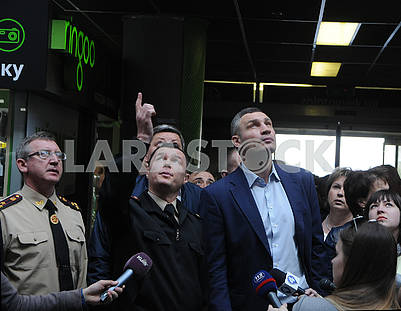 "Vitali Klitschko during the inspection of the shopping center ""Magellan"""