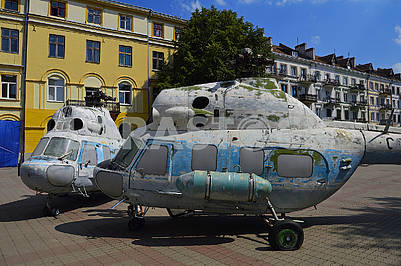 Old soviet elicopters Mi-2