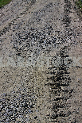 Track of a crawler tractor