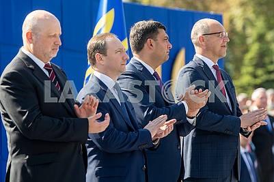 Alexander Turchinov, Igor Rainin, Vladimir Groysman, Andrei Parubiy