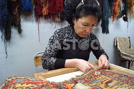 Hand-knitted carpets Armenian
