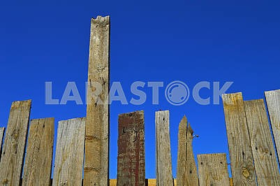 An old fence from the boards