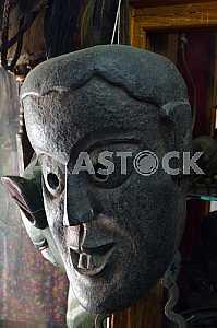 Antique stone mask. Kathmandu. Nepal