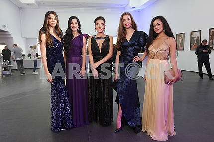 Miss Ukraine 2012 Karina Zhironkina, Miss Ukraine 2007 Lika Roman, Miss Ukraine International 2016 Victoria Kiose, Miss Ukraine 2016 Alexandra Kucherenko and Vice-Miss Ukraine 2015 Feride Ibragimova