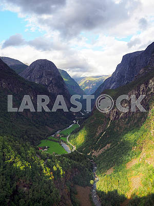 Gorge in the mountains of Norway
