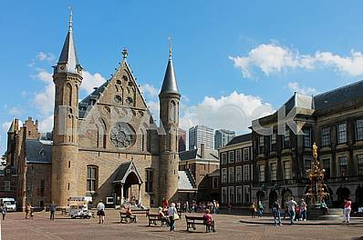 Ridderzaal - Gothic castle in The Hague included in the complex Binnenhof