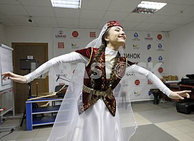 Outdoor evening of Crimean Tatar music