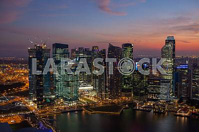Evening view of Singapore