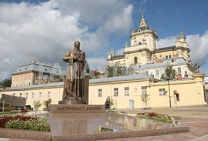 Monument to Metropolitan Sheptytsky in Lviv