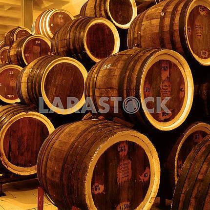 Barrels old wine