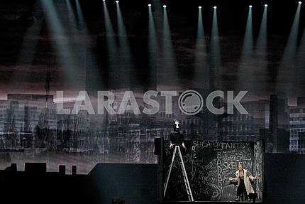 Light scenery on the stage of Eurovision 2017