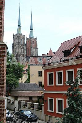 Cathedral of St. John the Baptist in the daytime in the city of Wroclaw, Poland