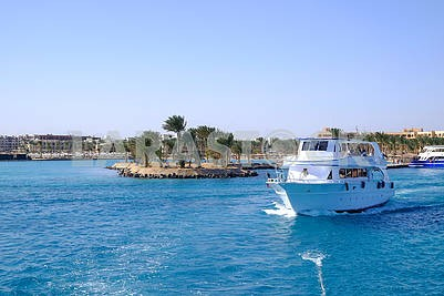Yacht in the Red Sea