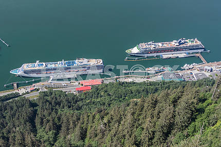 View from the bird's-eye view. Juneau, Alaska