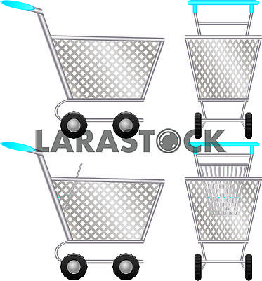 Set of shopping cart for online shop