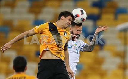 Players Kadar Tomas and Ponomar Vitaly