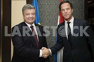 Mark Rutte and Petro Poroshenko