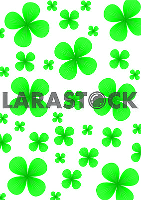 Background for St.Patrick day with green four leafed clovers