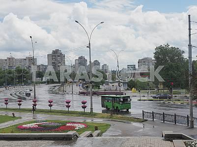 Sobornaya Street in Sumy