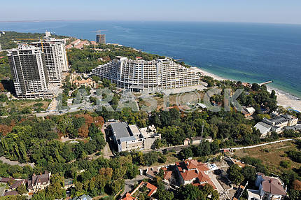 Odessa. Aerial view. Houses in Arcadia, 27 September 2011