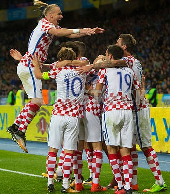 Players of the Croatian national team