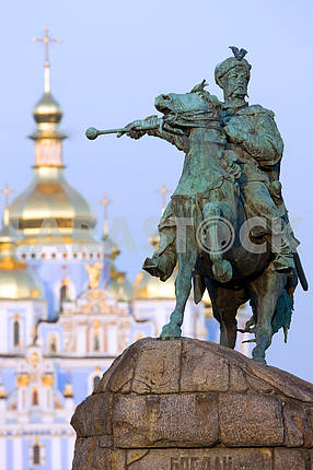 A statue of a Cossack