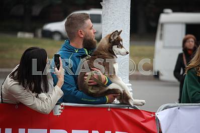 "Spectators at the ""Dnipro eco marathon"""