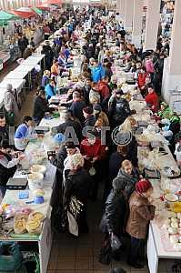 """Shopping malls in the market """"Privoz"""" in Odessa, April 6, 2012"""