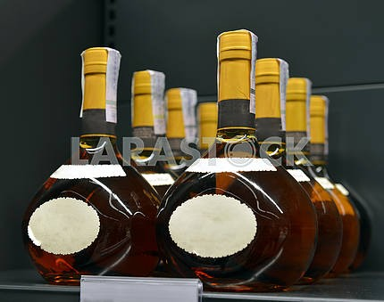 Brandy in the stores of alcoholic beverages