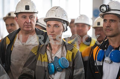 Miners in Pavlograd