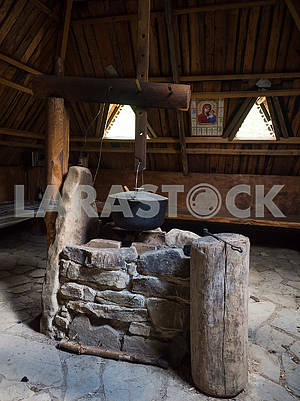 Stone stove and kettle