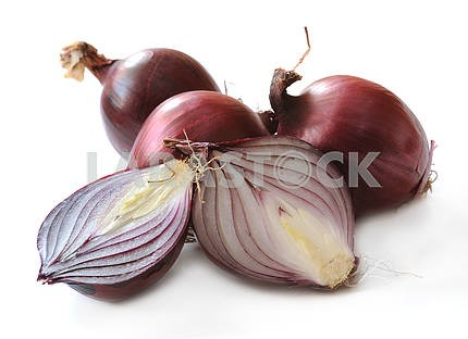 Several red onions
