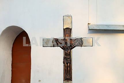 The cross with the crucifixion of Jesus Christ