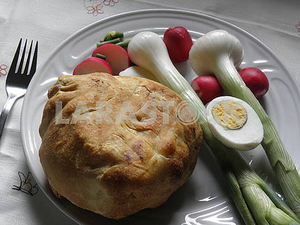 Croatian Easter breakfast,2