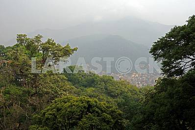 The view from the heights in the Nepalese capital, Kathmandu