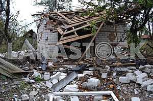 Ruined buildings in Avdeevka