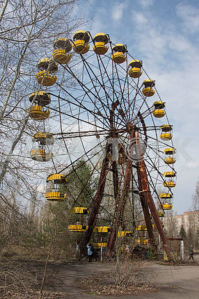 Ferris wheel in the city of Pripyat