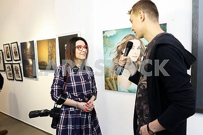 "Photo artist Julia Savenko presented the work ""The Birth of Venus"" at the Ukrainian Art Week."