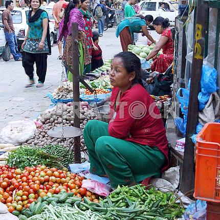 The market in Nepal, Kathmandu