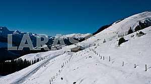 Blue sky over the Alps