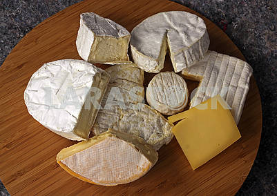 Cheese of eight different varieties