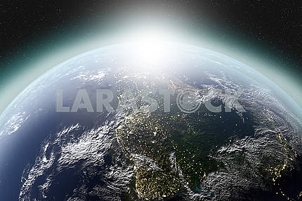 Highly detailed planet of the solar system. Elements of this image furnished by NASA
