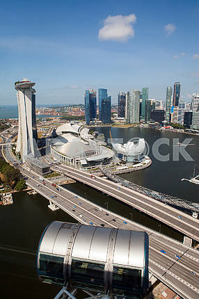 View from Ferris wheel Singapore