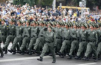 Military parade on the Independence Square in Kiev