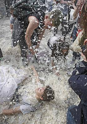 Pillow fight in Kiev