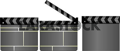 Set of gray cinema clapboards