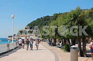 Spain: the promenade in the resort city of San Sebastian