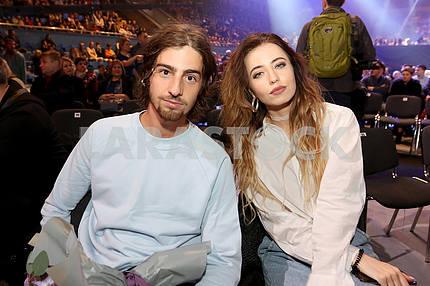 Singer Vladimir Dantes and singer Nadia Dorofeeva