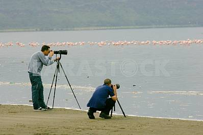 Two photographers on nature