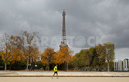 Eiffel Tower in the fall